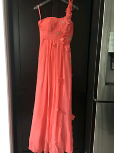 Coral Dress (bridesmaid, prom, banquet, party)