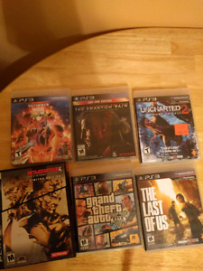 Ps3 games, metal gear, gta, umvc3, last of us