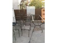 IKEA TABLE AND 6 CHAIRS ** FREE DELIVERY AVAILABLE WEDNESDAY DAYTIME **