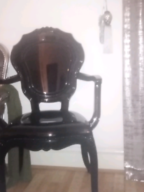 Black gloss ghost chair