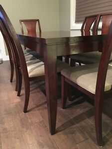 Dining table with leaf and six chairs Strathcona County Edmonton Area image 3