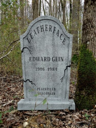 LEATHERFACE Tombstone Ed Gein Texas Chainsaw Massacre  Halloween Prop