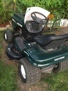 "Riding Lawnmower craftsman ez mulch lawn tractor 42"" cut"