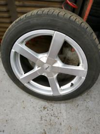 "17"" alloy wheels, 4 stud multifit. Fit ford, peugeot, citroen etc"