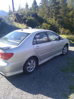 2003 TOYOTA COROLLA SPORT. 160,00 KM . 2ND OWNER. GREAT SHAPE