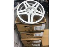"""17"""" Stuttgart alloy wheels Alloys Rims tyre tyres 4x100 Vauxhall vw Volkswagen Nissan BMW mini"""
