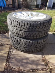 4  245/45R18 snow tires with rims