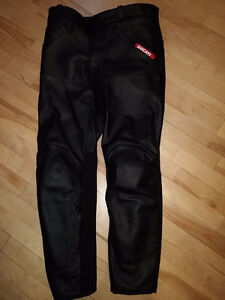 Ducati by Dainese Black Leather Motorcycle Pants: Size 50