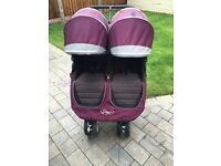 Baby jogger city mini double / twin in purple