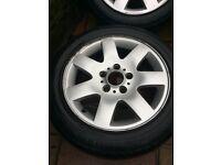 4 16 inc BMW alloy wheels