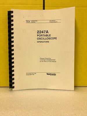 Tektronix 070-6373-01 2247a Portable Oscilloscope Operators Operators Manual