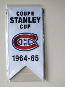 CENTENNIAL STANLEY CUP 1964-65 BANNER MONTREAL CANADIENS HABS