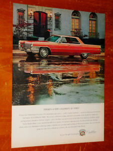 1965 CADILLAC SEDAN DEVILLE VINTAGE AD - PUB RETRO ANONCE