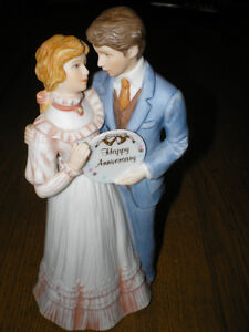 "~ TREASURED MEMORIES "" HAPPY ANNIVERSARY "" FIGURINE ~ $29.99 ~"
