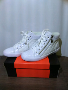 G by Guess Women's Orily Quilted High Top Shoes in White