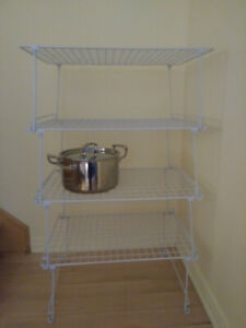 "4 Stackable Wire Shelves  - 14 1/2"" x 21 1/2""  $12 each"
