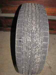 Set of 4 - 225 65r 17 Studless winter tires with steel rims/caps Prince George British Columbia image 2