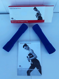 HAND WEIGHTS, SOFT TOUCH, 2 X 1kg, BRAND NEW UNUSED