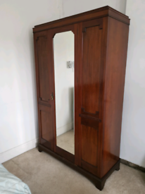 Antique Edwardian Mahogany Wardrobe