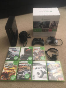 Xbox 360, headset, 2 controllers, games