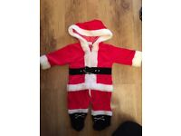 Santa outfit 3-6 months.