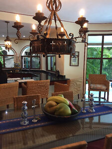 Villa with private pool and golf course view .-Playa del carmen