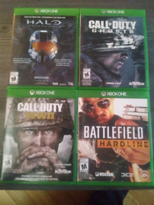 Jeux xbox one Call of Duty WW2/Ghosts/Battlefield/Halo
