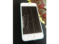 iPod Touch 5th generation 32 Gb. Broken screen but perfect working