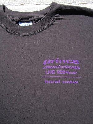PRINCE musicology 2004 tour Local Crew! XL T-SHIRT