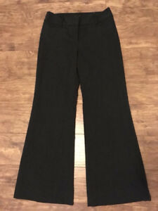 Never worn. Women's Le Chateau striped, dark grey dress pants.