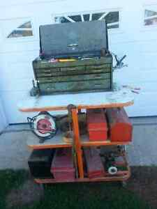 Tool Stand with Assortment of Tools and Boxes Kawartha Lakes Peterborough Area image 4