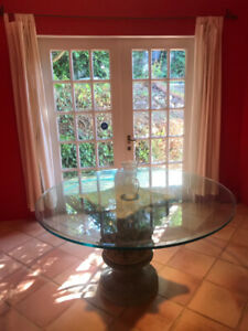 Glass & Concrete Dining Table