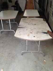 three folding tables for free