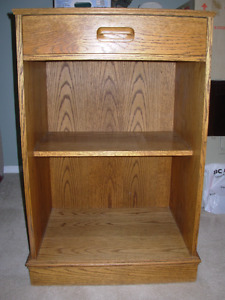 Oak Microwave Stand