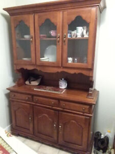 2 beautiful wood hutch and cabinet  for sale for sale