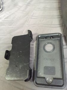 Black otter box and side holder for a iPhone 6