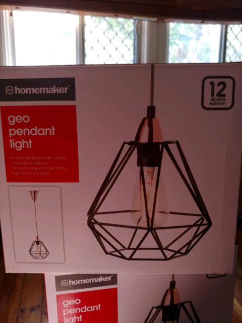 2 X Kmart Homemaker Geo Pendant Light Ceiling Lights