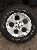 Brand new jeep rims and tires all 5 for 2000 OBO