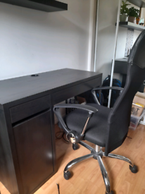 Ikea desk plus office chair