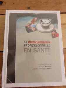 NEUF livre La communication professionnelle en santé, neuf enc