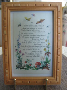 FRAMED VINTAGE COLLECTIBLE from GRANDMA'S DAY
