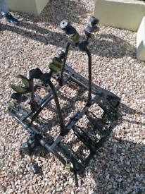 Buzz rack Quattro tilting tow bar 4 cycle carrier