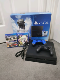 PS4 console + 2 controllers + 2 games
