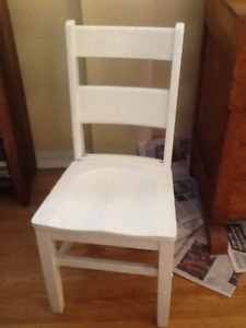 Oak, ladder back, painted chair, moulded seat