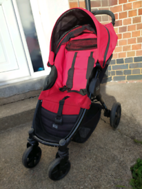 Stroller Britax B-Agile 4 pushchair jogger buggy Red and black with ex