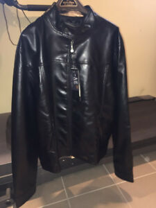 Brand new AIE Emporio leather jacket biker style