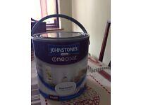 New and unopened tin of Johnstones one coat Matt paint