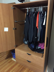 Clothes wardrobe with 2 (dresser) drawers