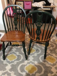 Special antique side desk and chairs.