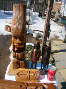 Lot of  Hand Carved African items